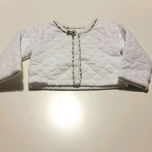 Authentic Burberry white and check quilted jacket